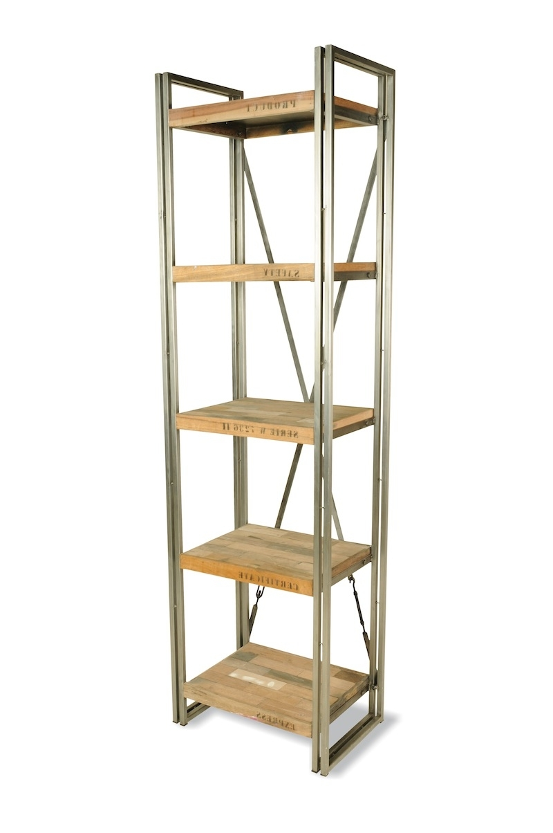 Brooklyn Industrial Narrow Shelving Unit Intended For Trendy Very Narrow Shelving Unit (View 2 of 15)