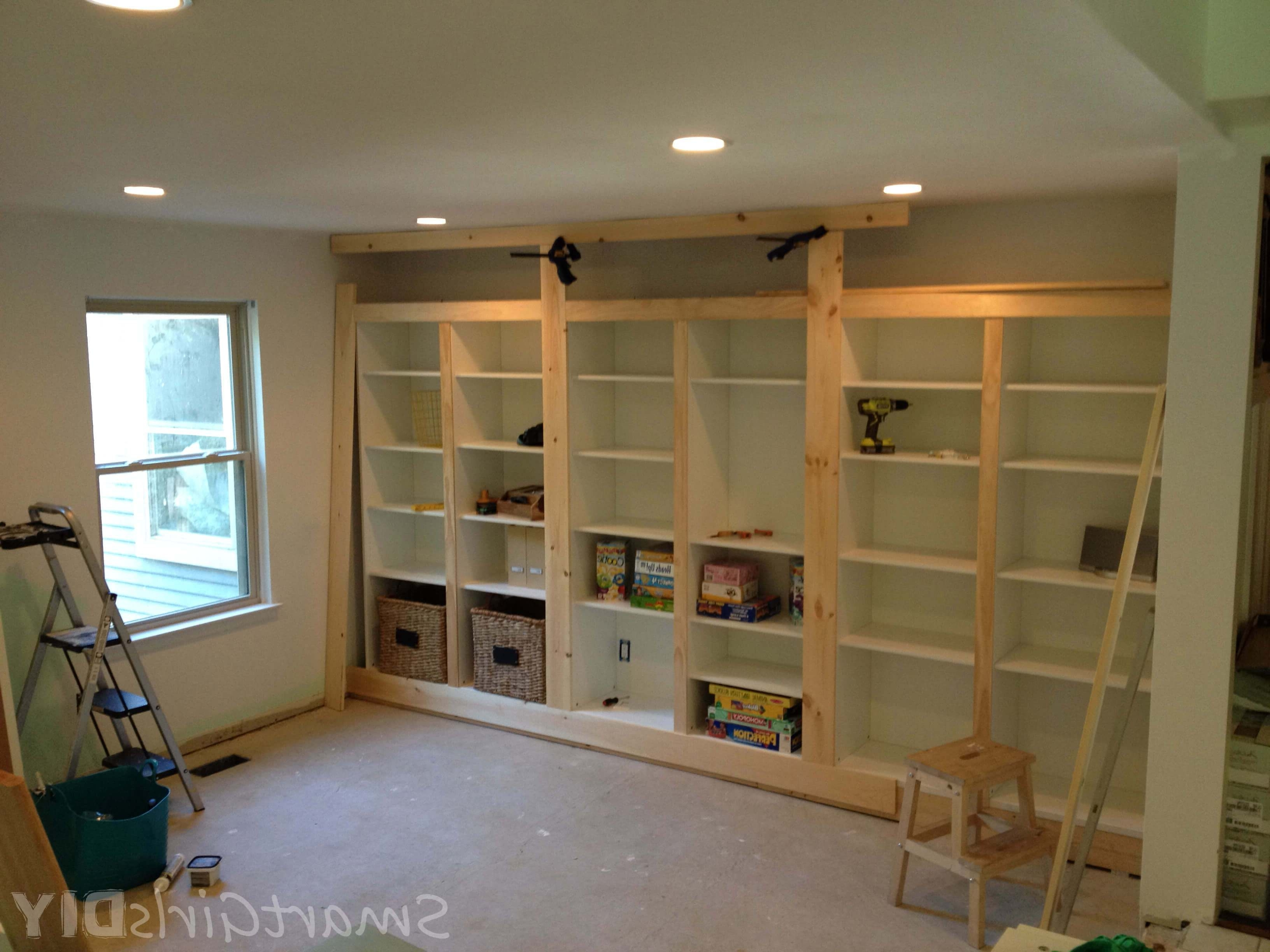 Build Built In Bookcases For Well Liked Diy Built In Bookshelves Using Ikea Besta (Family Room 8) (View 3 of 15)