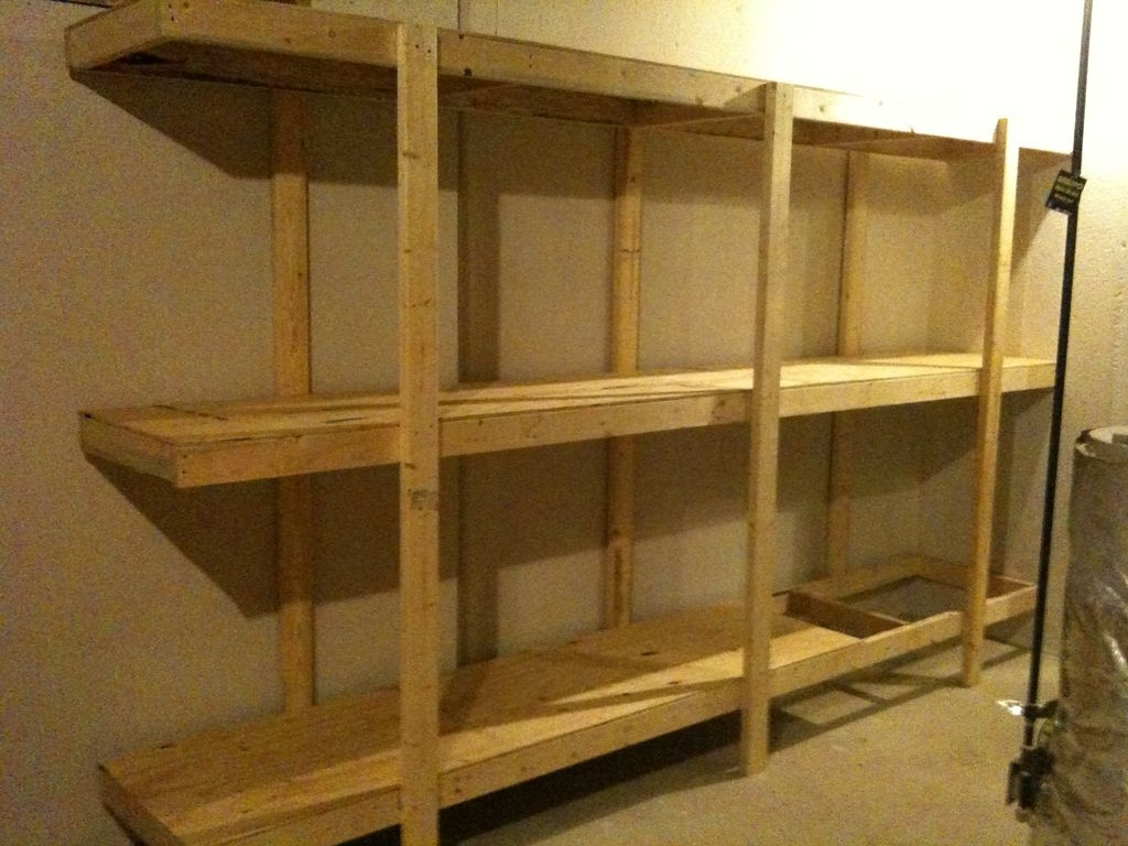 Build Easy Free Standing Shelving Unit For Basement Or Garage: 7 Inside Popular Wooden Shelving Units (View 7 of 15)
