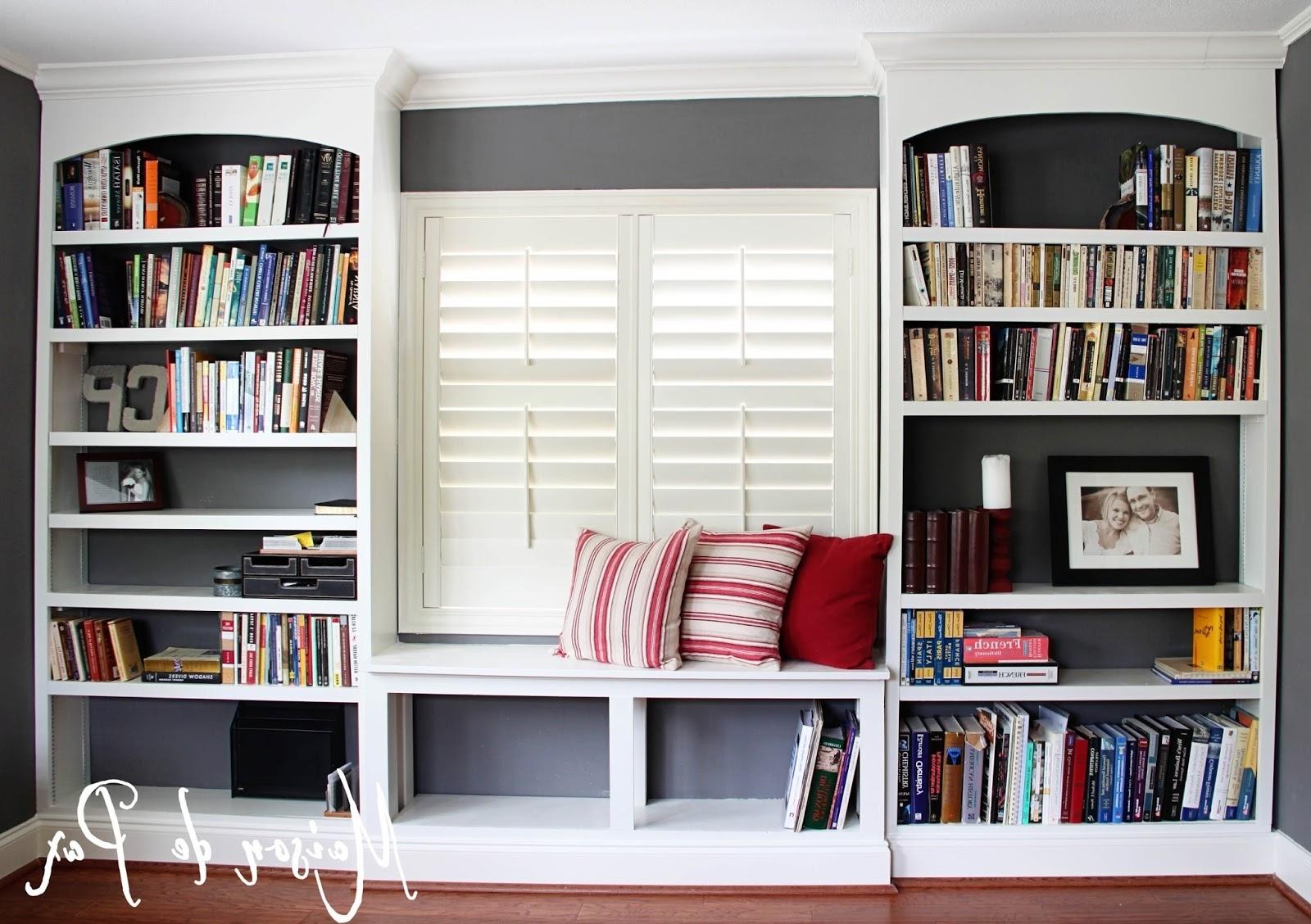 Built In Bookshelves Kits Intended For Current Diy Built In Bookshelves – Maison De Pax (View 4 of 15)
