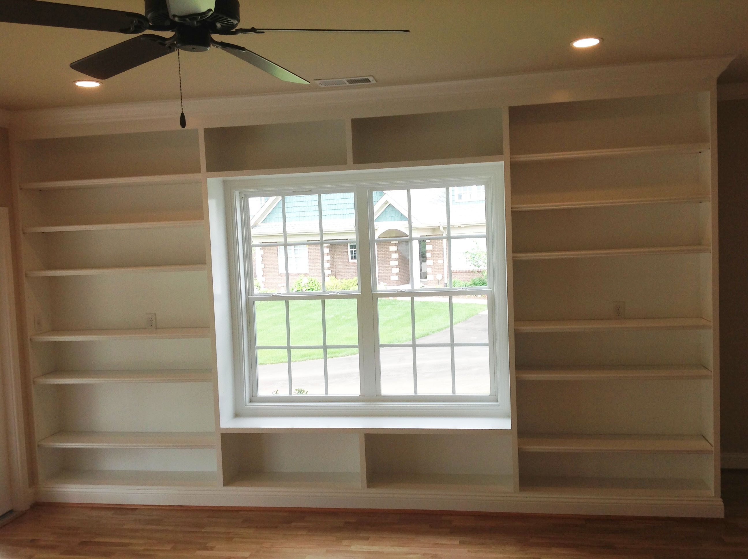 Built In Shelves Around A Window (View 2 of 15)