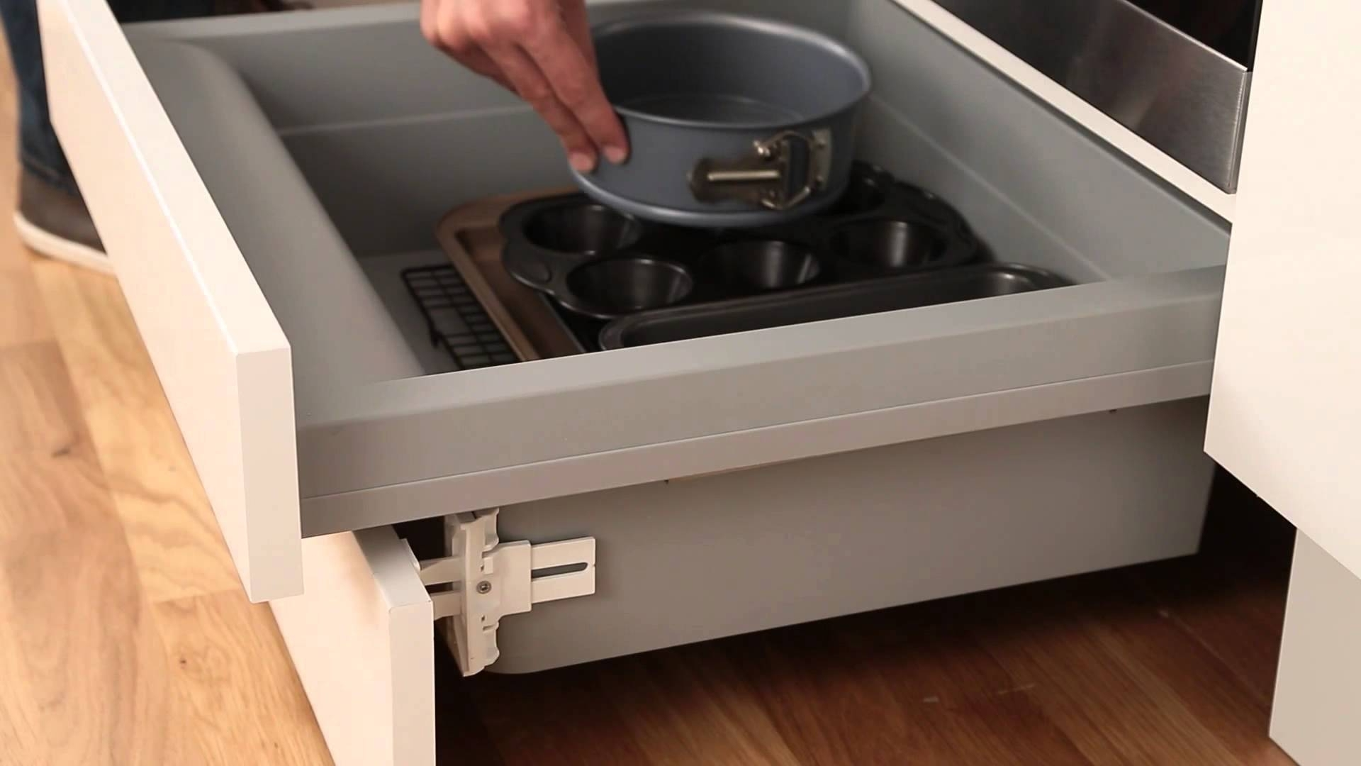 Built Under Oven Housing Storage Drawer – Youtube Inside 2018 Plinth Drawer (View 6 of 15)