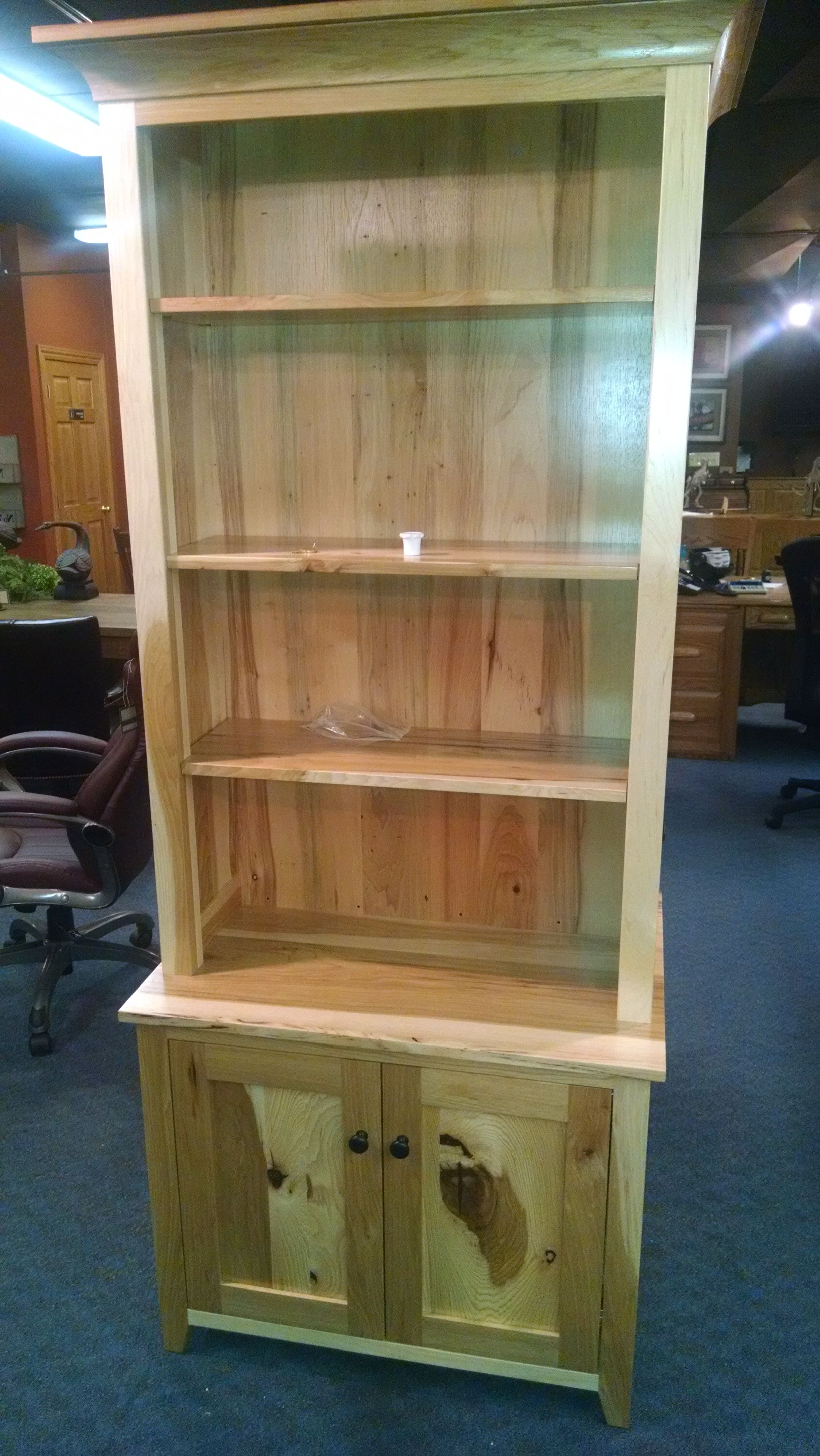Buy A Hand Made Hidden Gun Cabinet Bookcase, Made To Order From Within Most Current Cabinet Bookcases (View 3 of 15)