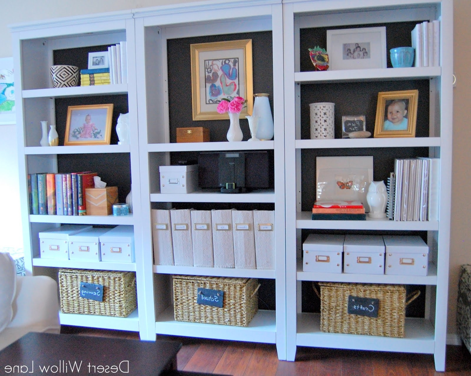Carson 5 Shelf Bookcases With Regard To Well Known Bookcase Reveal / Desert Willow Lane (View 7 of 15)