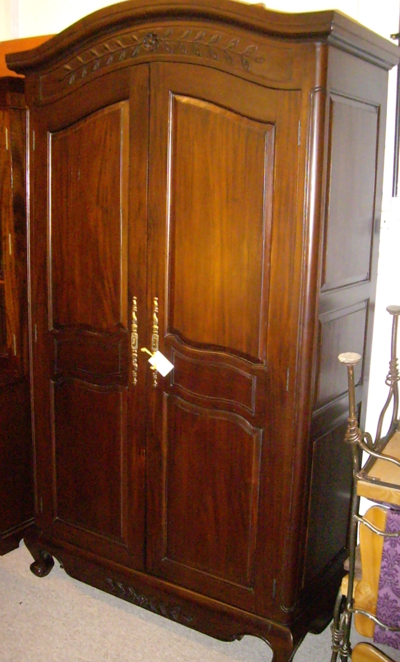 Charming Decoration Dark Brown Wood Wardrobe Solid On Sales For 2018 Solid Dark Wood Wardrobes (View 2 of 15)
