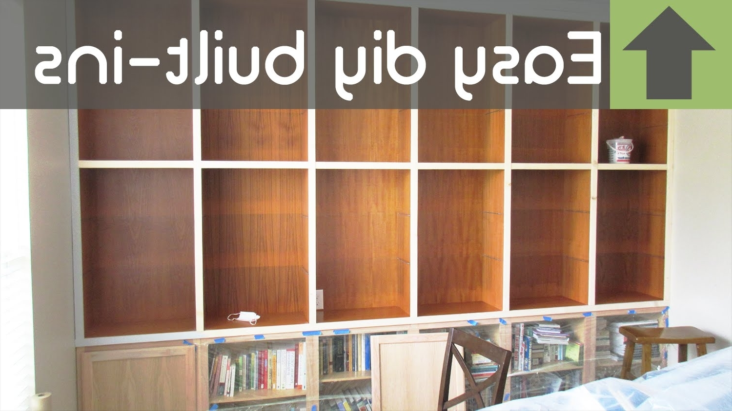 Cheap And Easy Diy Built In Shelves!! – Youtube With Newest Whole Wall Bookshelves (View 10 of 15)