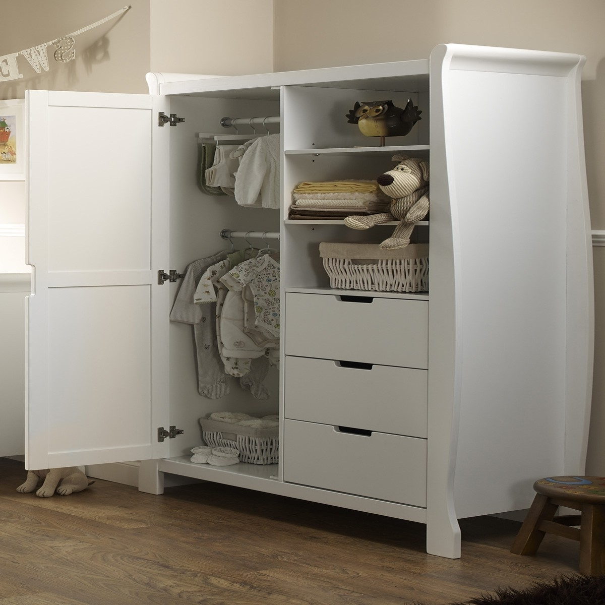 Cheap Baby Wardrobes In Favorite Obaby Lincoln Wardrobe – White – Wardrobes – Furniture – Sleep (View 5 of 15)