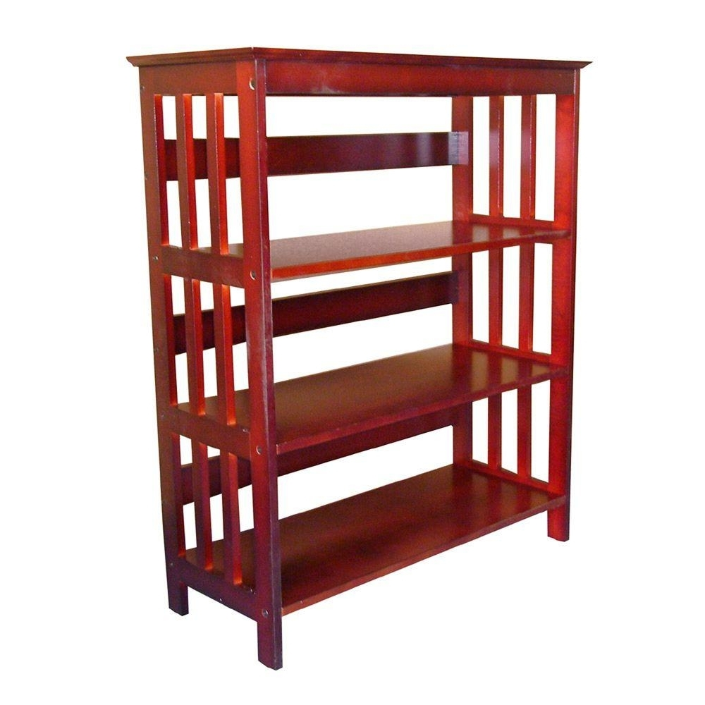 Cherry Wood Bookcases With Regard To Popular Alaterre Furniture Mission Cherry Open Bookcase Amia0760 – The (View 7 of 15)