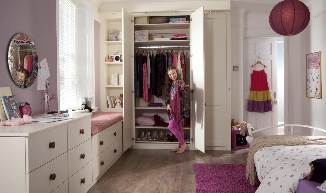 Childrens Pink Wardrobes Inside Best And Newest Kids Bedroom Furniture – Childrens Bedroom Designssharps (View 3 of 15)