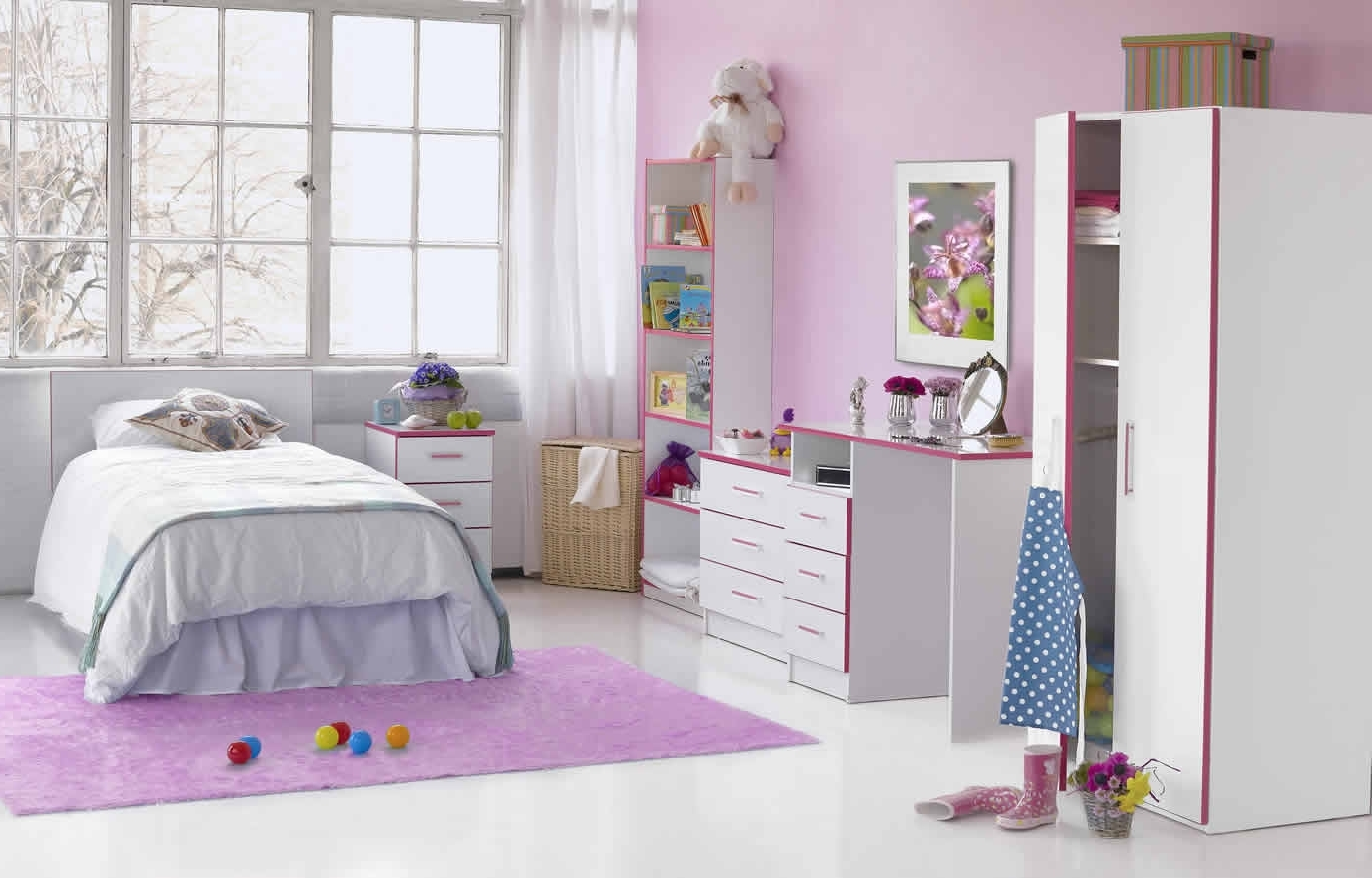 Childrens Pink Wardrobes Intended For Well Known Kiddi Pink Bedroom Furniture Range (View 5 of 15)