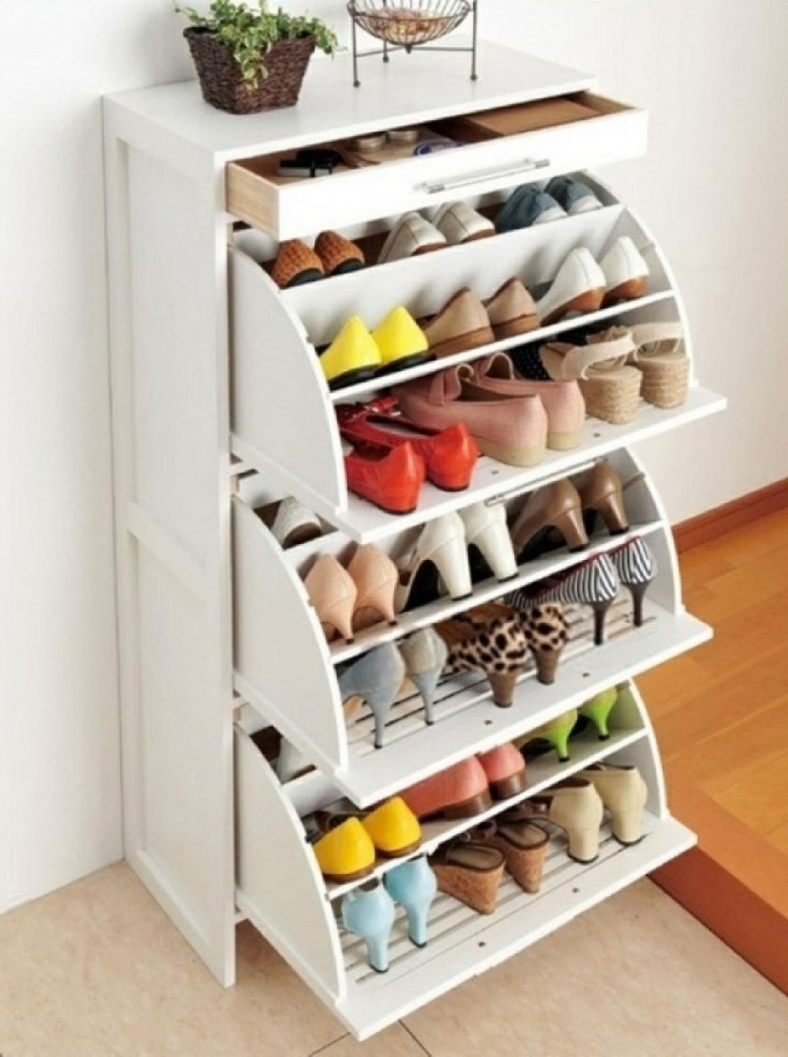 Closet Storage : Diy Shoe Rack Cardboard Shoe Storage Ideas Closet With Popular Wardrobes Shoe Storages (View 2 of 15)