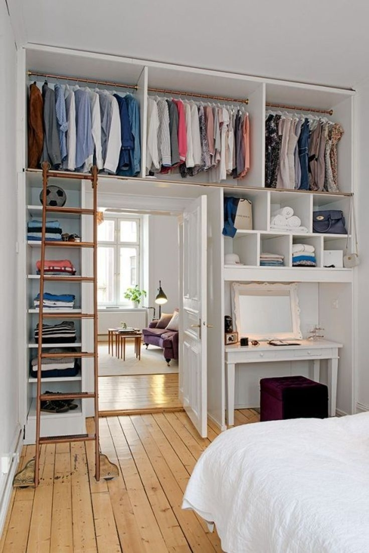 Closet Storage : Hanging Clothes Bar Closet Alternatives For For Famous Bedroom Wardrobes Storages (View 6 of 15)