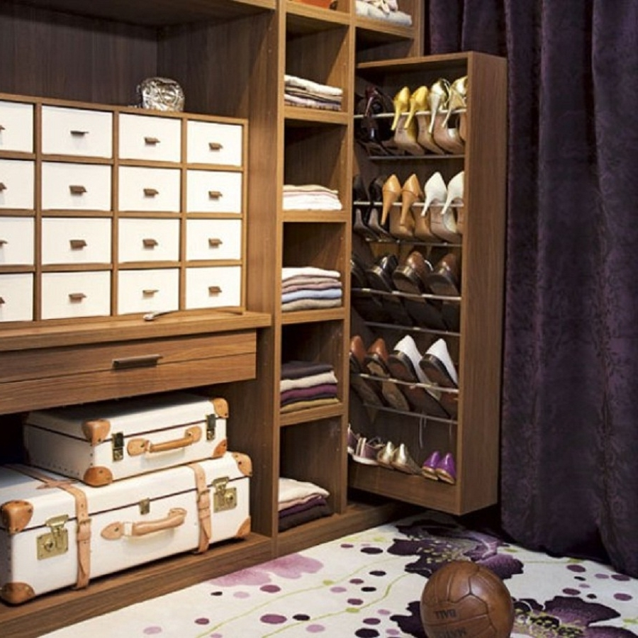 Closet Storage : Small Walk In Closet Organization Ideas Shoe Rack With Regard To Well Known Wardrobes Shoe Storages (View 5 of 15)
