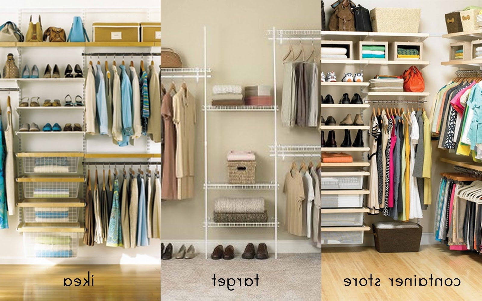 Closet Systems Home Depot Hanging Closet Organizer Fitted Pertaining To Best And Newest Fitted Shelving Systems (View 4 of 15)