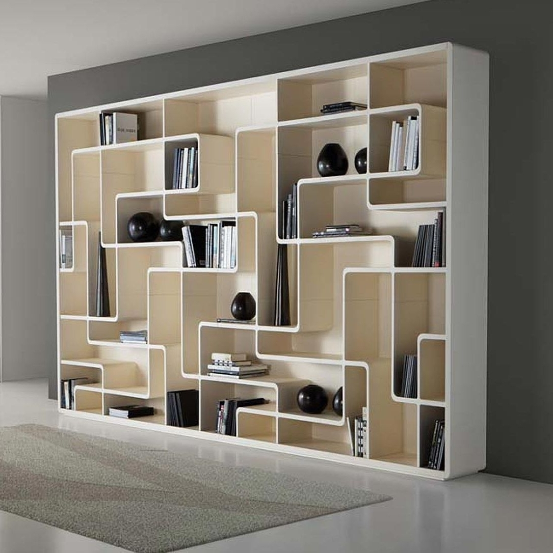 Contemporary Bookcases Intended For Most Current Furniture Home: Contemporary Bookcases Bookshelf Bookcase Jpg To (View 9 of 15)
