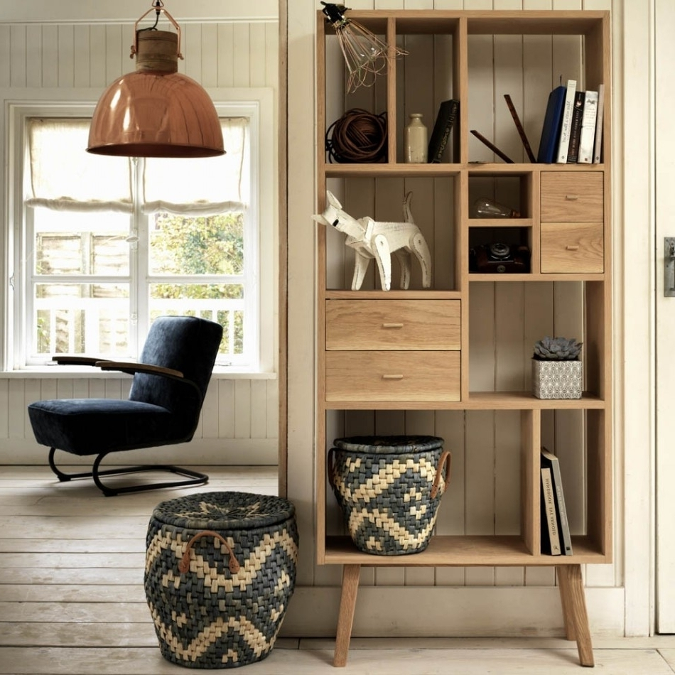 Contemporary Oak Shelving Units Intended For Most Current Contemporary Oak Shelving Units • Shelves (View 3 of 15)