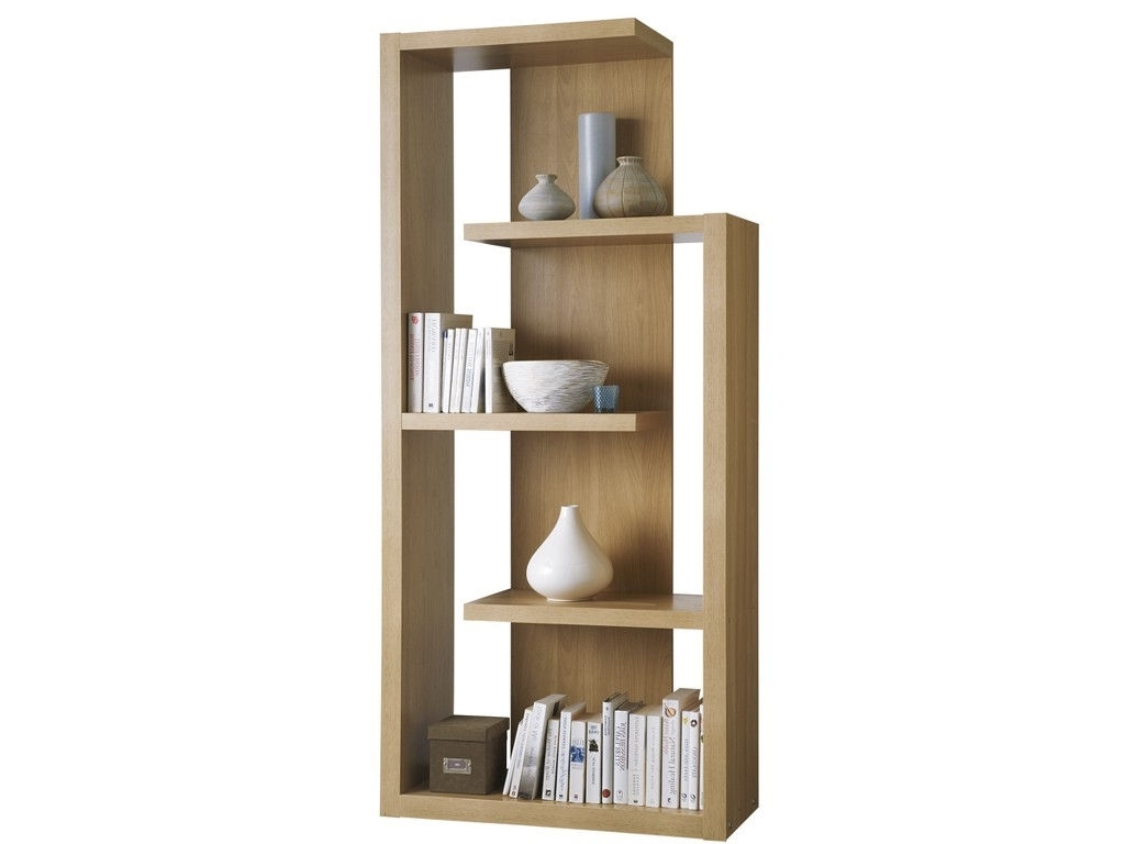 Contemporary Oak Shelving Units Regarding 2018 Furniture : Marvelous Modern Quebec Oak Wood Display Wall Shelves (View 5 of 15)
