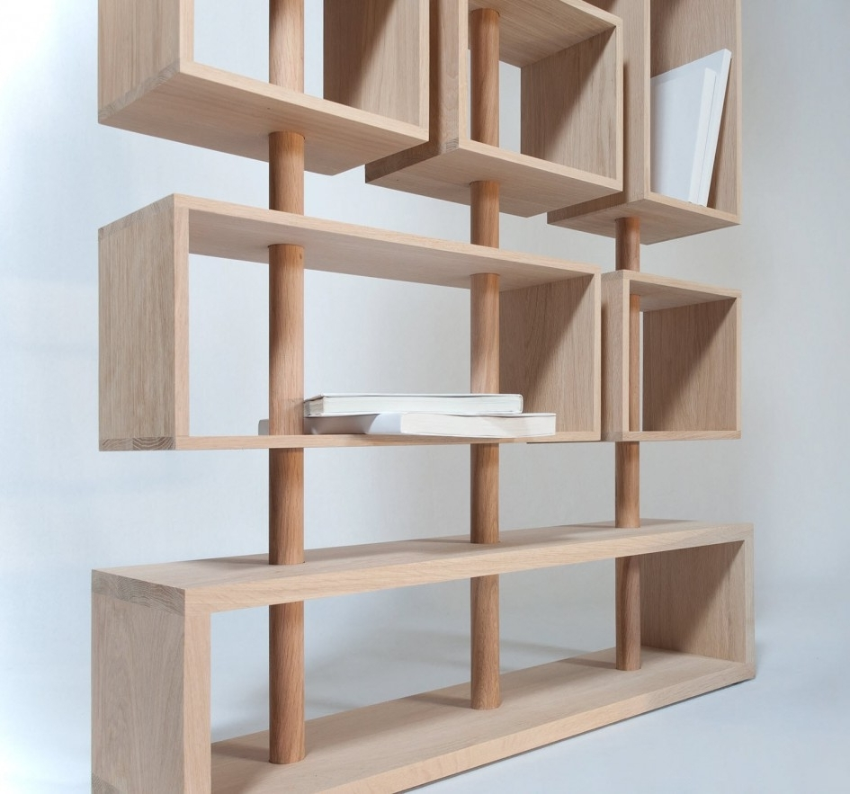 Contemporary Oak Shelving Units Regarding Best And Newest Beautiful Furniture Storage Wooden Storage Furniture Tall Wood (View 6 of 15)