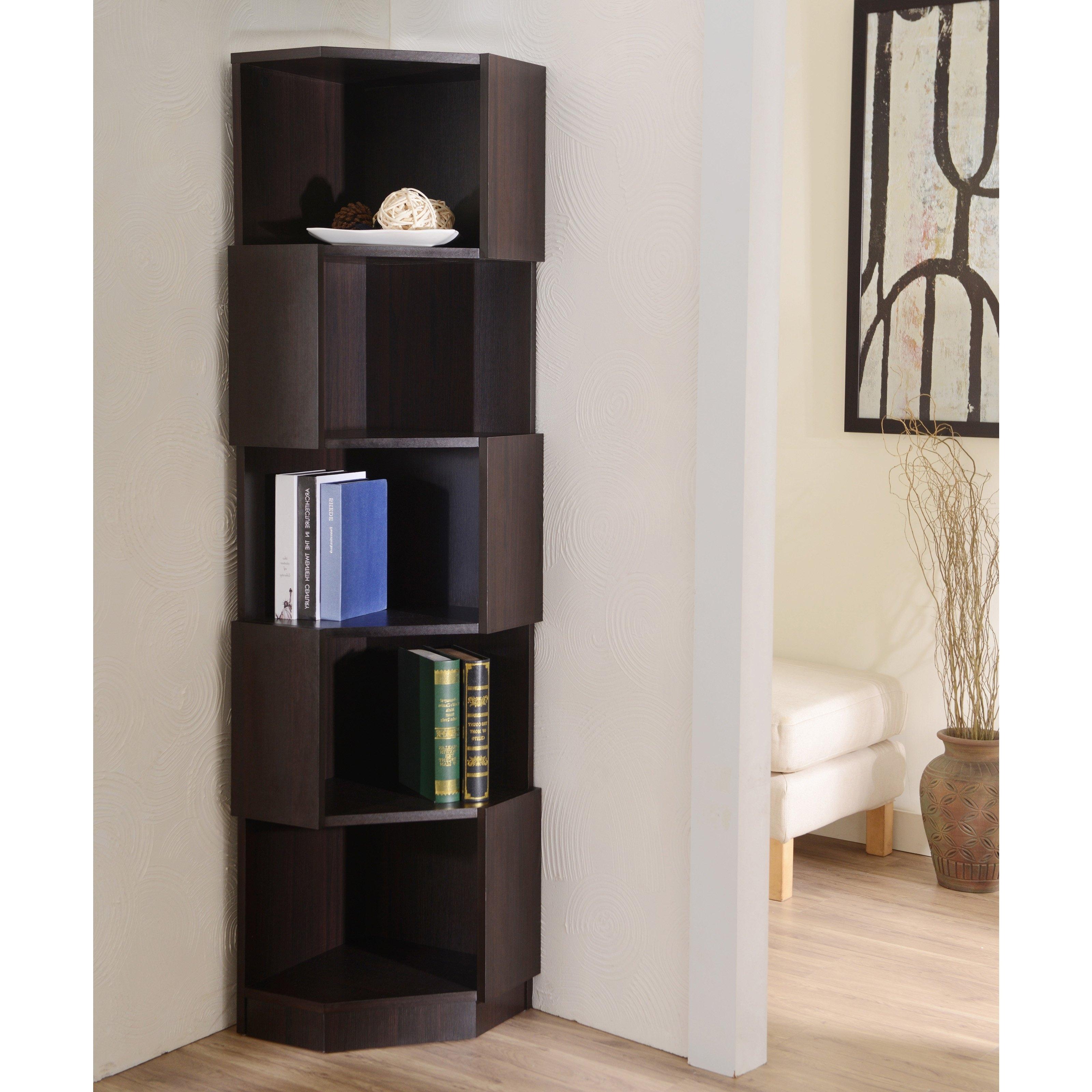 Corner Bookshelves Regarding Most Popular Corner Bookcases (View 7 of 15)