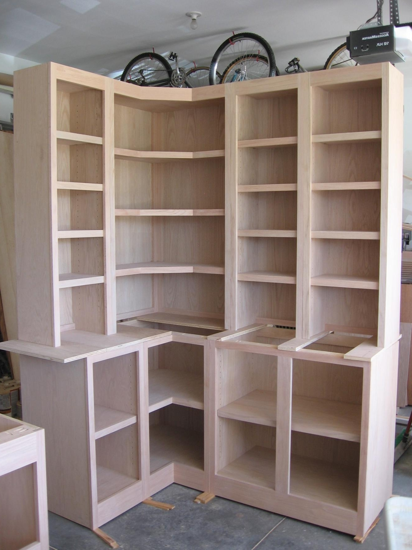 Corner Cabinets W/bookcases & Desk W/bookcases – Carpentry Picture For Newest Bookcases With Desk (View 15 of 15)