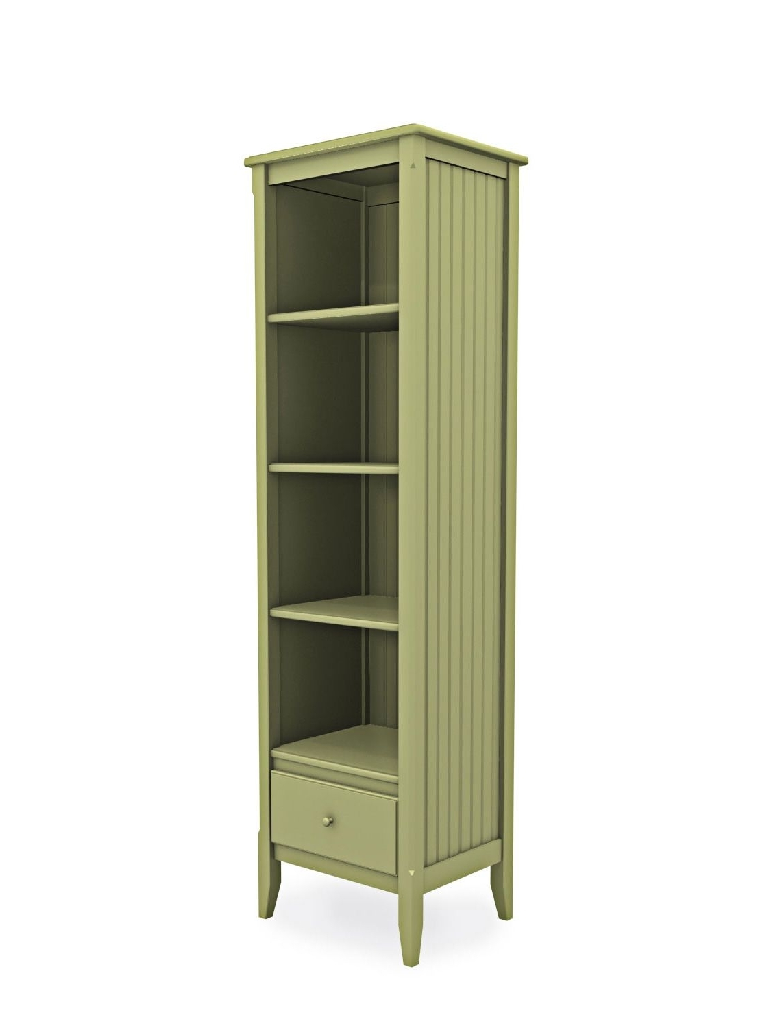 Cottage Tall Narrow Bookcase With Drawer (View 9 of 15)