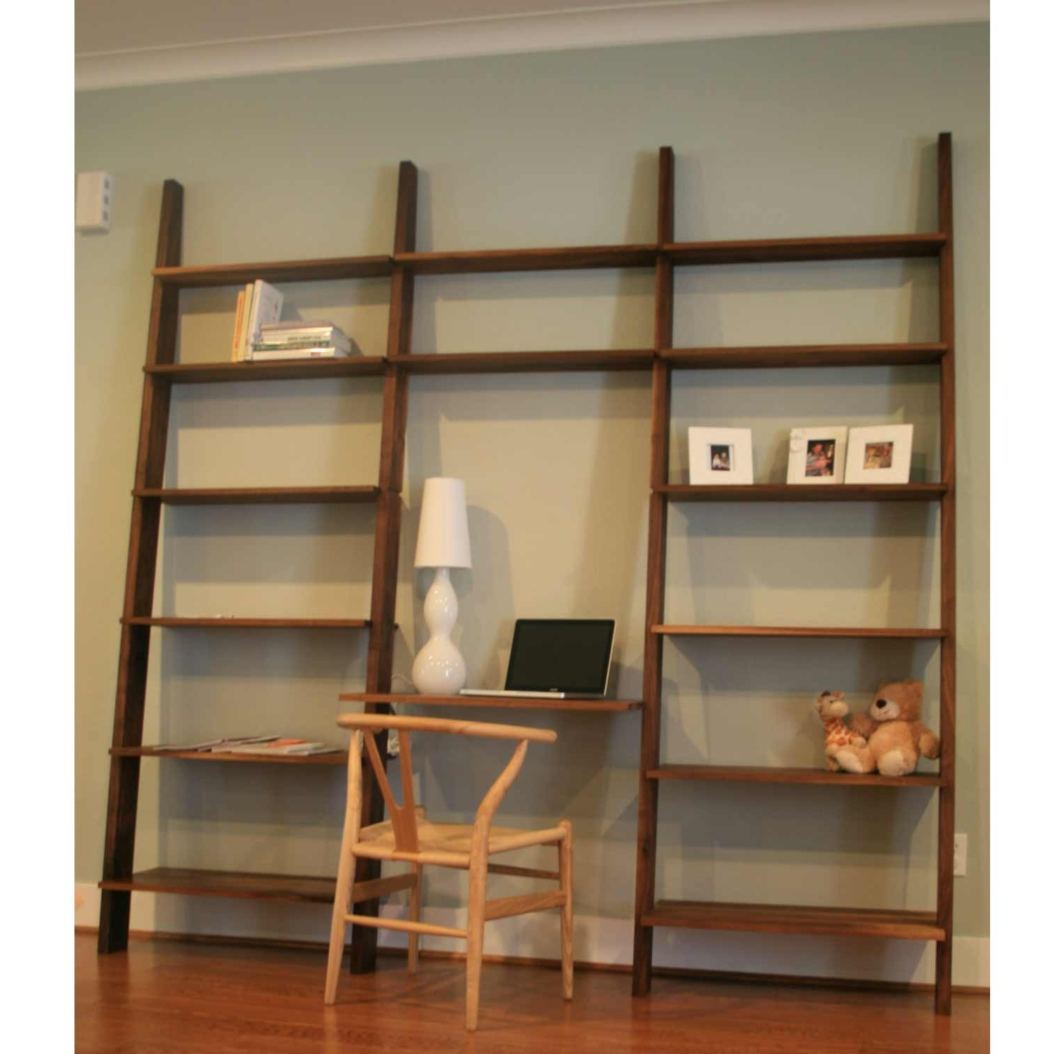 Crate And Barrel Leaning Bookcases Inside 2017 Leaning Bookshelf Desk — Home Designs Insight : Ladder Leaning (View 6 of 15)
