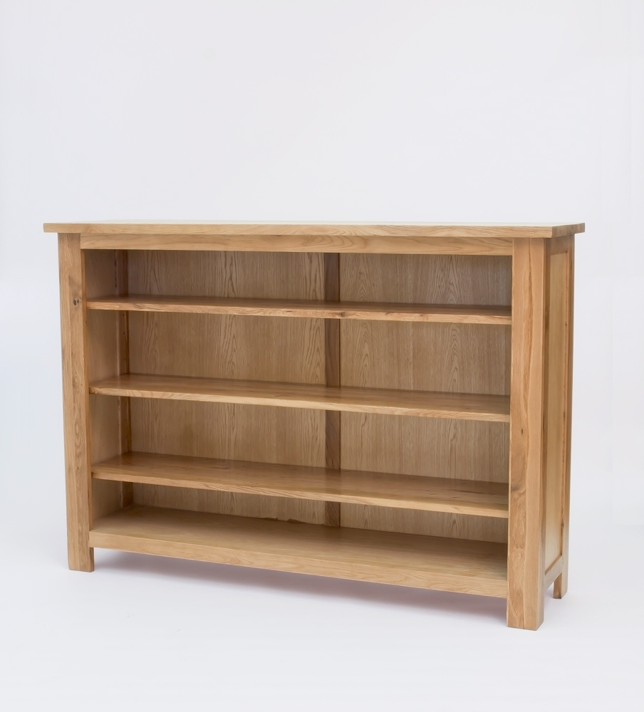Current 43 Oak Low Bookcase, Sherwood Oak Low Bookcase Free Delivery 50 Pertaining To Low Bookcases (View 3 of 15)