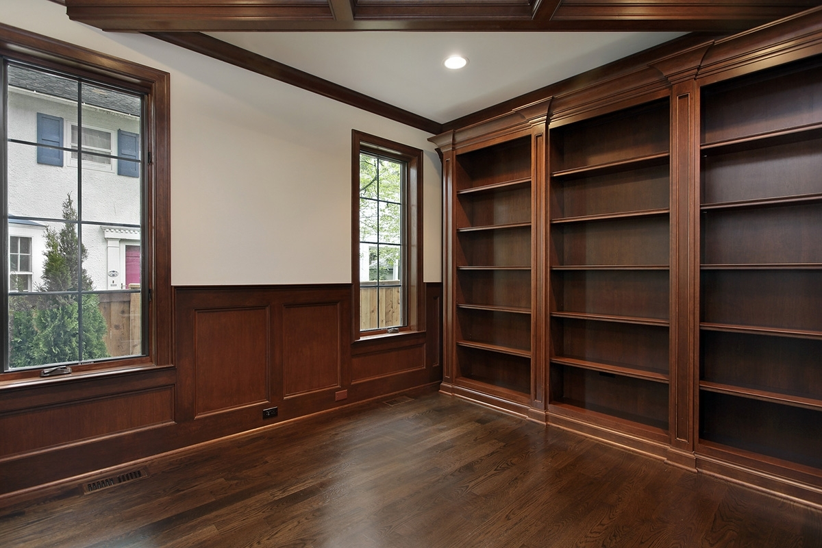 Current Custom Library Shelves & Built In Closets – Cabinetry (View 6 of 15)