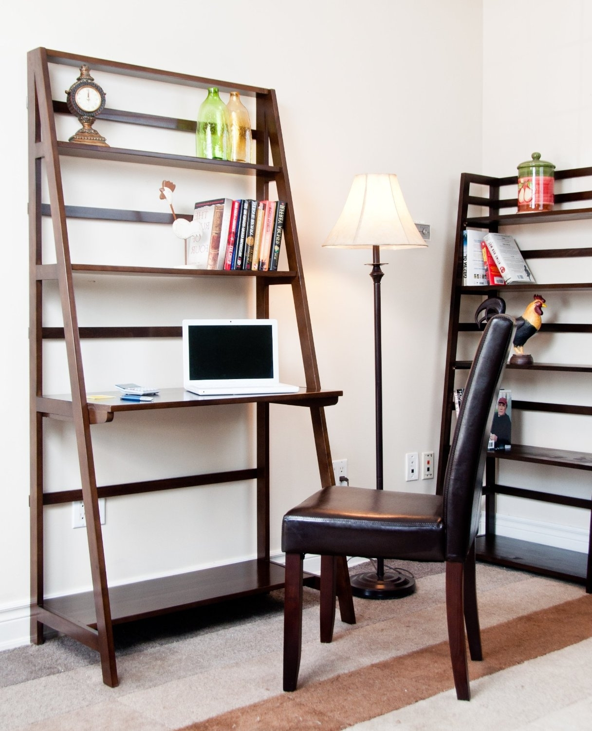 Current Desk Bookcases For Icon Of Ladder Desk Ikea: Simple Solution For Workstation As Well (View 3 of 15)