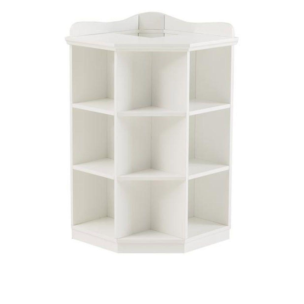 Current Kids 3 Shelf White Corner Book Storage 1627800410 – The Home Depot Regarding White Corner Bookcases (View 8 of 15)