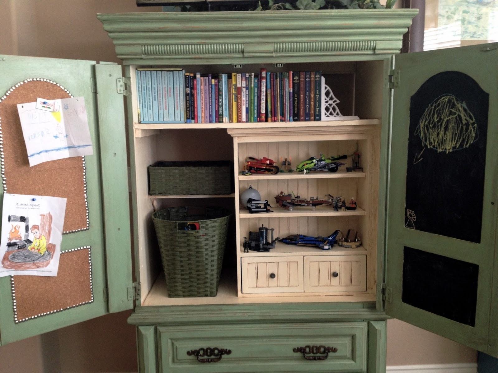 Current Little Bit Of Paint: Repurposed Armoire Update In Repurpose Bookcases (View 3 of 15)