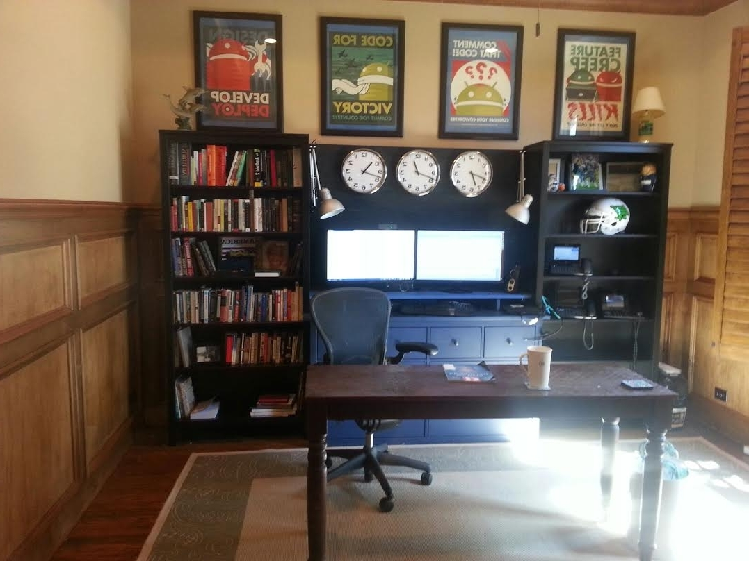 Current Office Workstation From Two Hemnes Bookcases And Large Hemnes For Hemnes Bookcases (View 3 of 15)