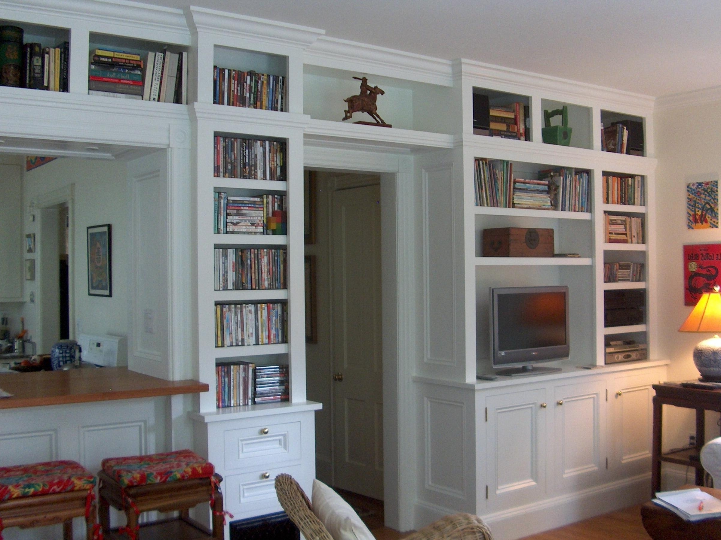 Current Wall Units: Stunning Premade Built In Bookcases Built In Bookcases Regarding Built In Bookcases With Tv (View 6 of 15)