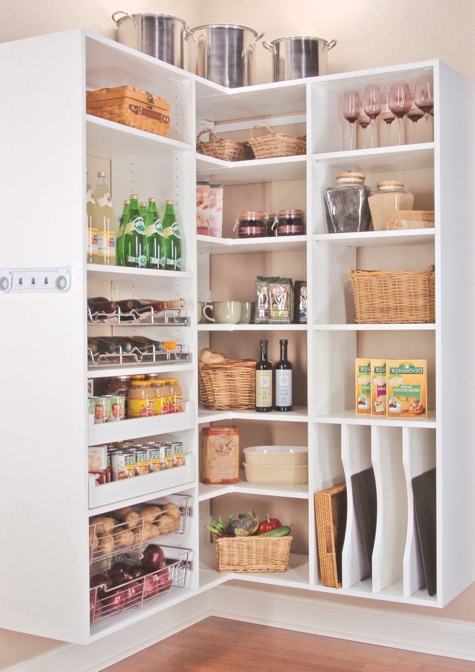 Current Wood Wall Mounted Corner Kitchen Shelving Unit Painted With White Throughout Painted Shelving Units (View 5 of 15)