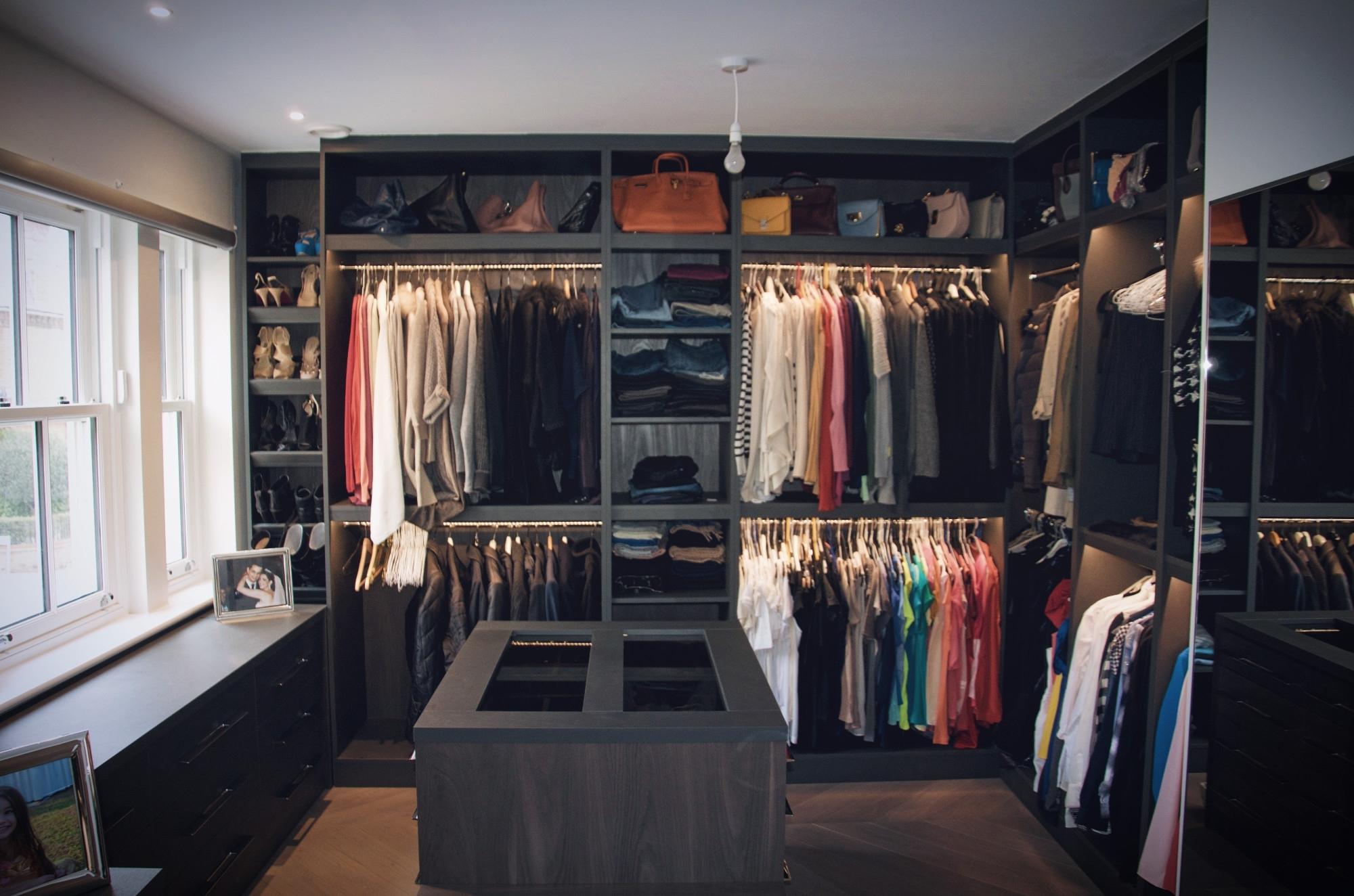 Dark Wardrobes In Most Recent Walk In Wardrobes Design And Ideas, Walk In Closet Interiors (View 6 of 15)