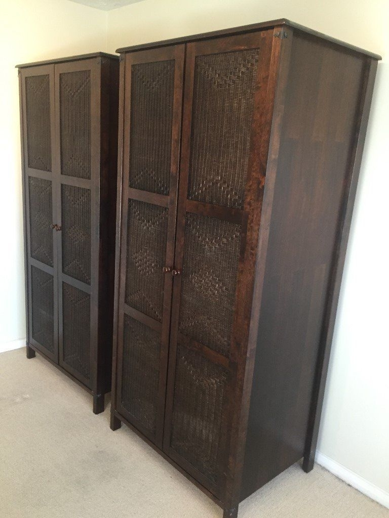 Dark Wardrobes Intended For Famous Marrakesh Bedroom Furniture Set, Dark Mango Wood (View 15 of 15)