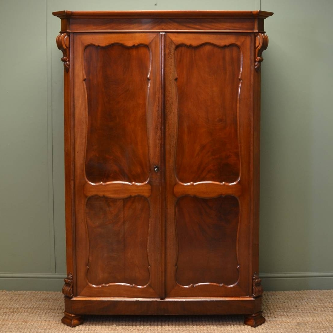 Dark Wood Wardrobes With Drawers Pertaining To Widely Used Solid Dark Wood Wardrobes For Sale White Wardrobe With Drawers You (View 7 of 15)