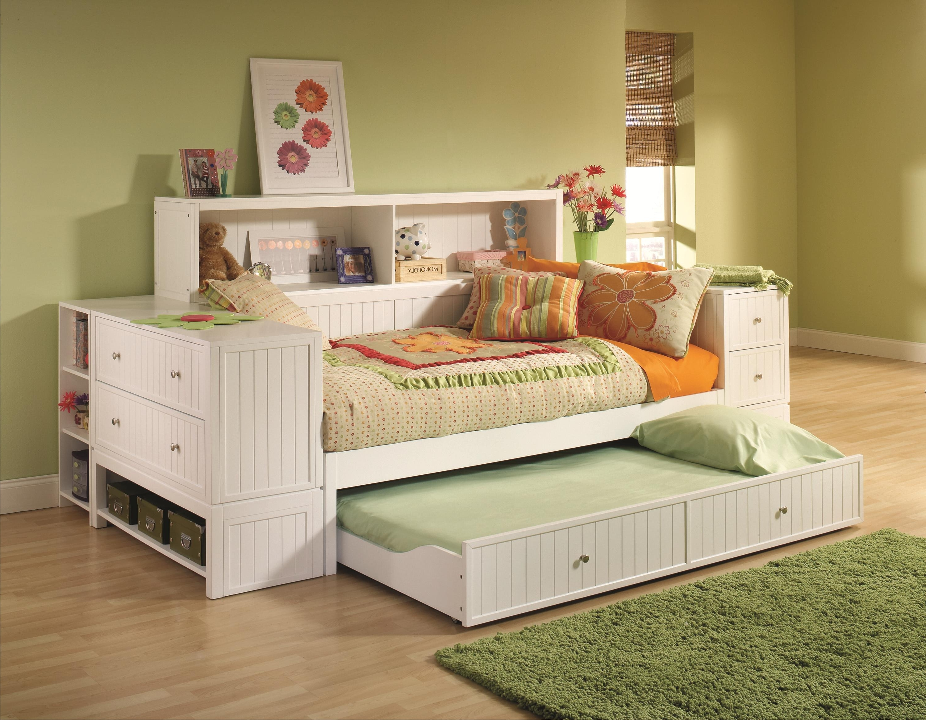 Daybed Bookcases Pertaining To Newest Examplary Daybeds With Drawers Ideas For Storage Drawers Design (View 5 of 15)