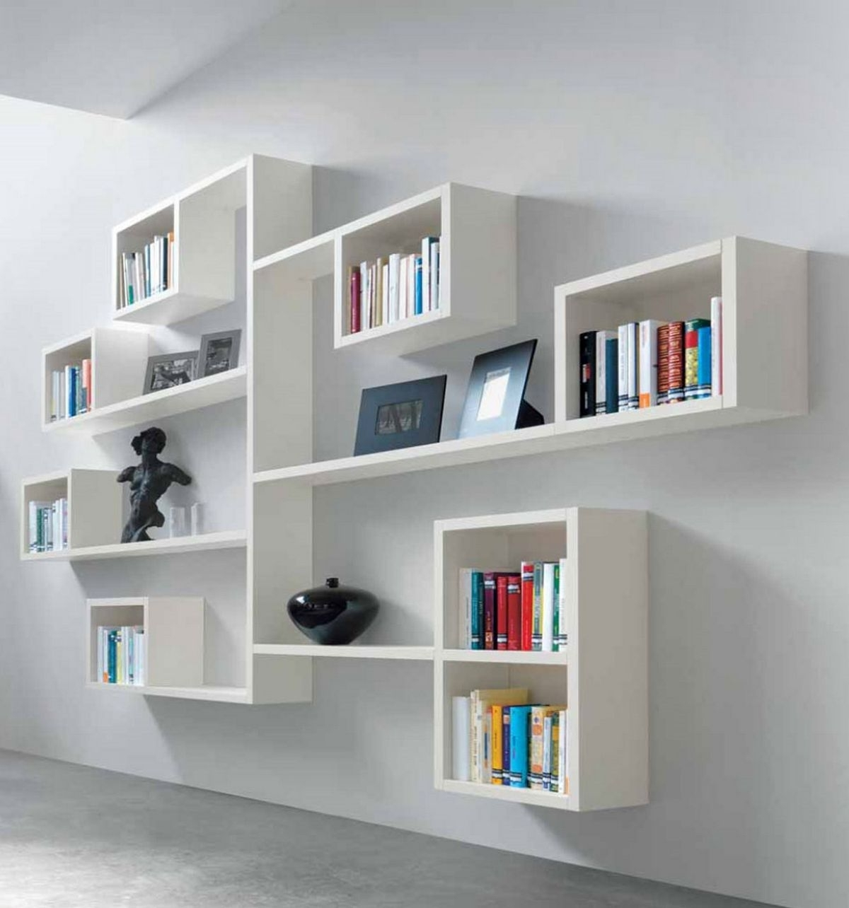 Decoration : Wall Mounted Book Shelf Wall Mounted Shelving Systems Throughout 2017 Book Shelving Systems (View 8 of 15)
