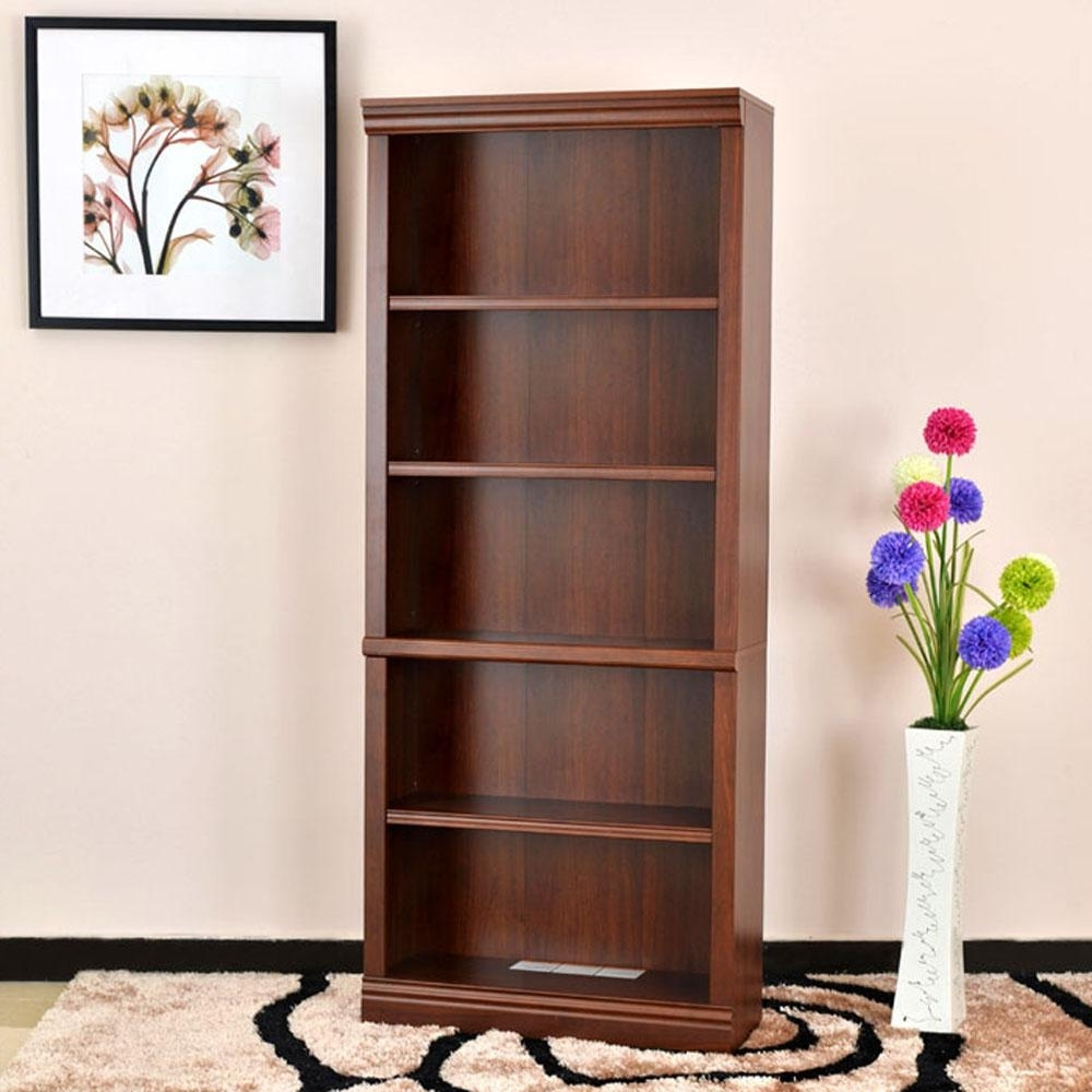 Decorative Bookcases Pertaining To Most Popular Hampton Bay 5 Shelf Standard Bookcase In White Thd90004.1a (View 5 of 15)