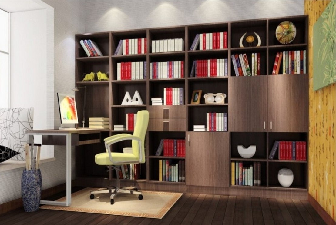 Desk Bookshelf Combo, Bookcases Ideas: Desk Bookcase Combo Simple Regarding Preferred Desk Bookcases (View 8 of 15)