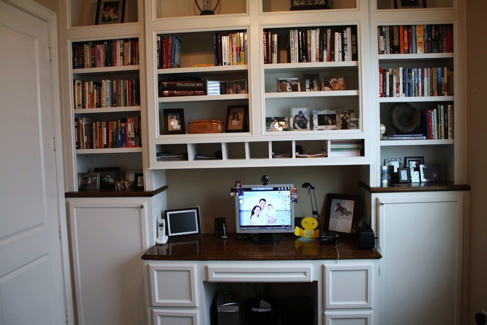 Desk With Bookcases For Recent Custom Made Built In Desk & Bookcasescustom Cabinets & Trim (View 4 of 15)