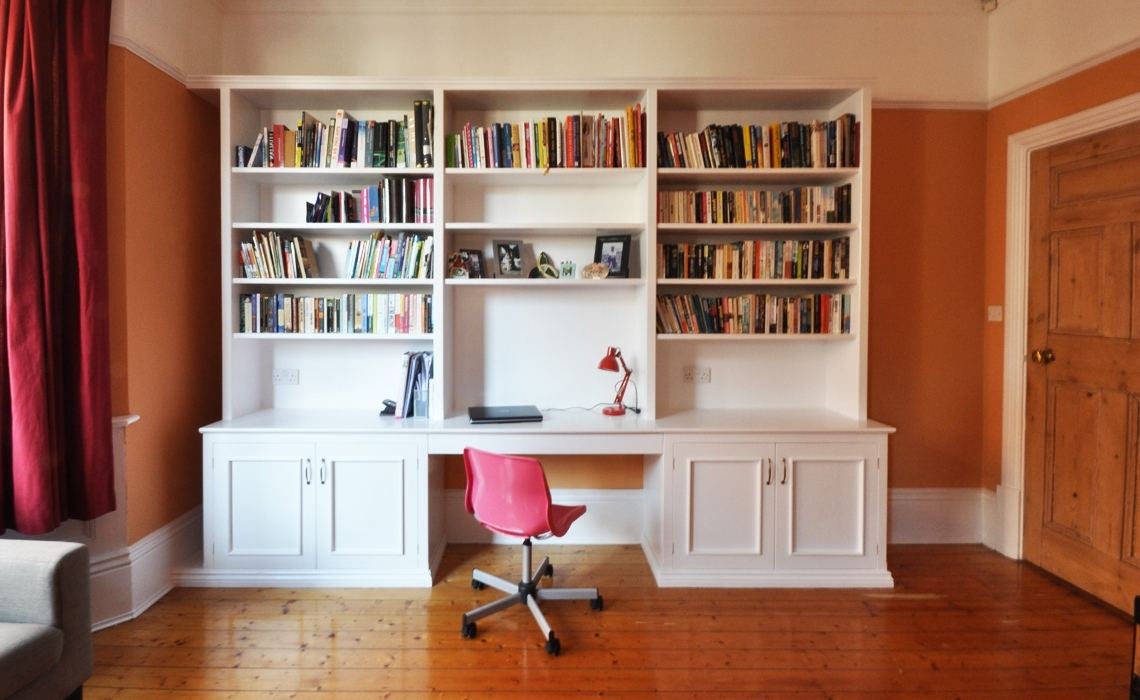 Featured Photo of Desk With Bookcases