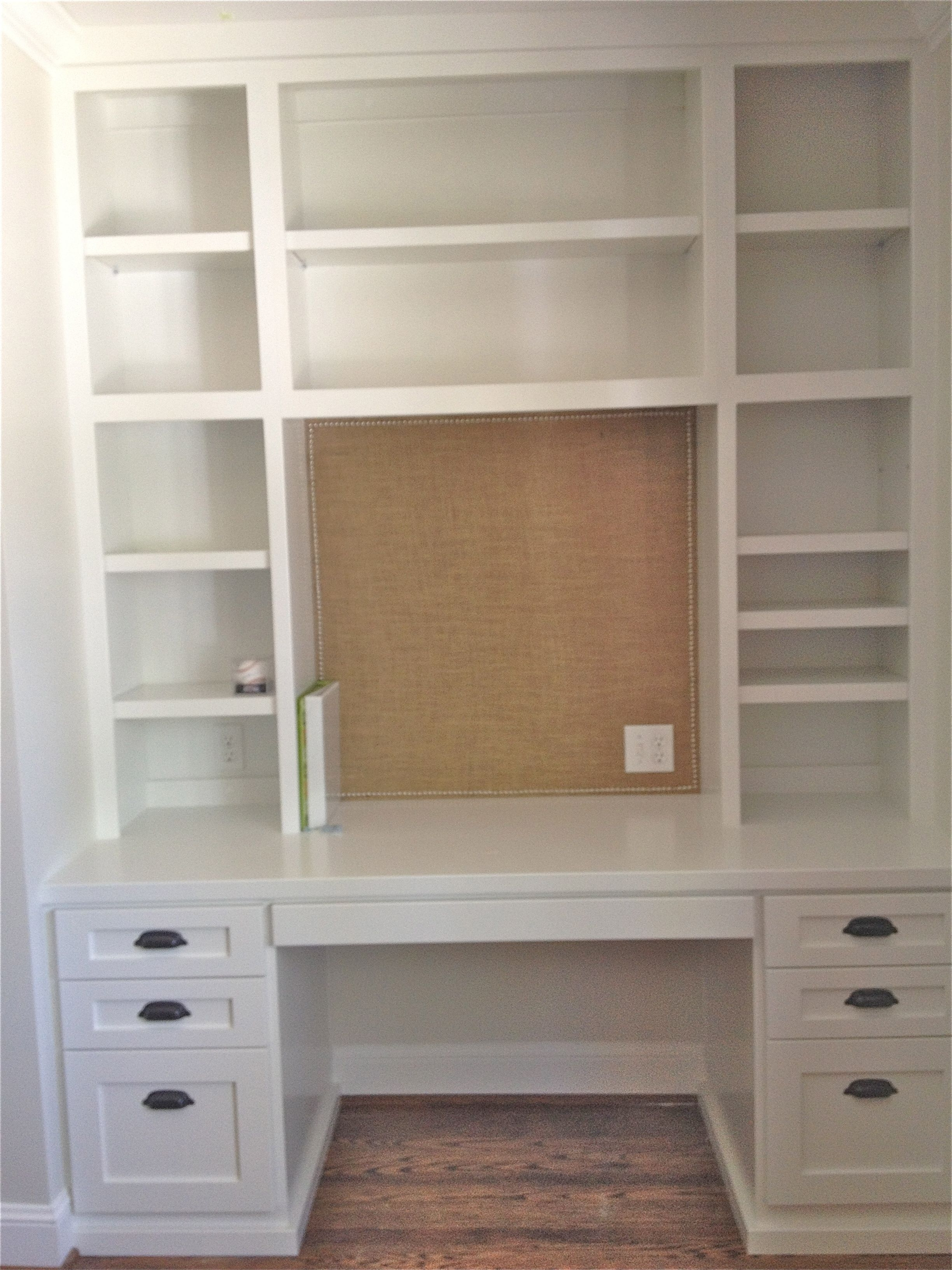 Desk With Bookcases With Regard To 2018 Desks + Bulletin Boards + Burlap (View 7 of 15)