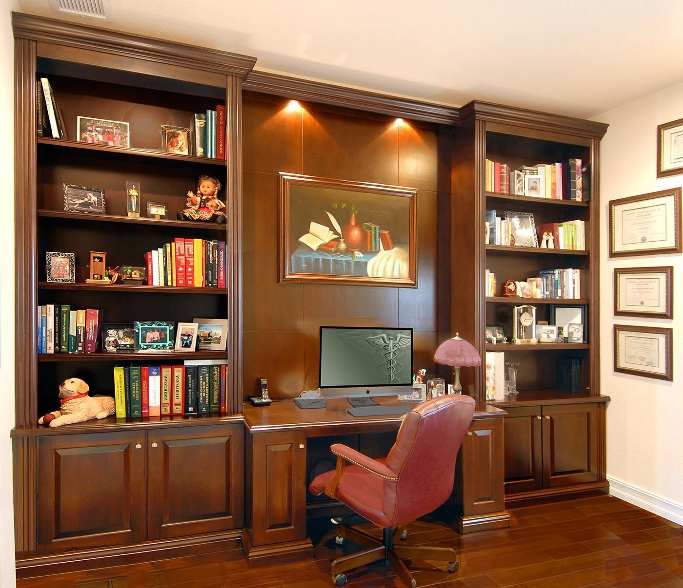 Desk With Matching Bookcases In Trendy Love The Open Center For A Picture Or Mirror (View 5 of 15)