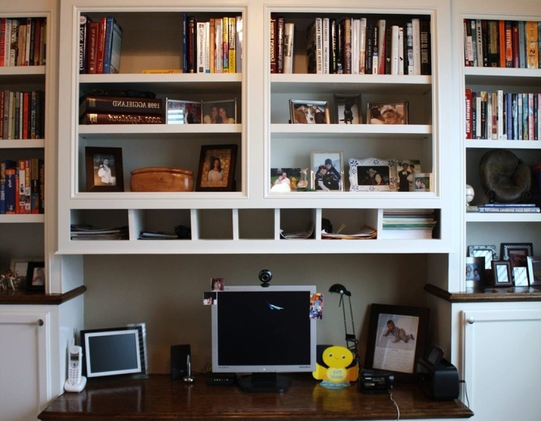 Desktop Bookcases With Well Liked Desk : Enchanting White Target Bookshelf With Dark Desk For (View 6 of 15)