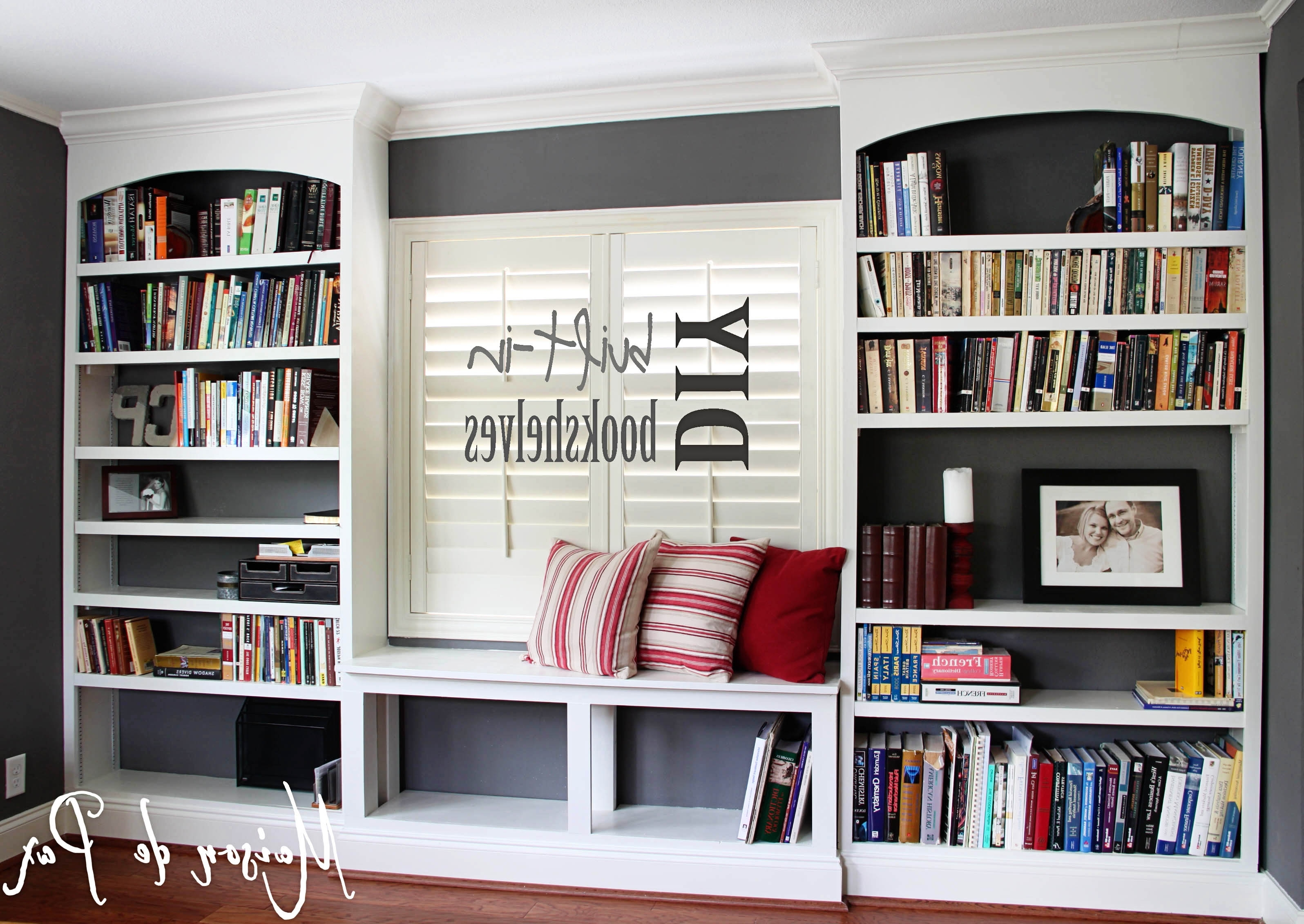 Diy Bookcases With Regard To Current Diy Built In Bookshelves – Maison De Pax (View 5 of 15)