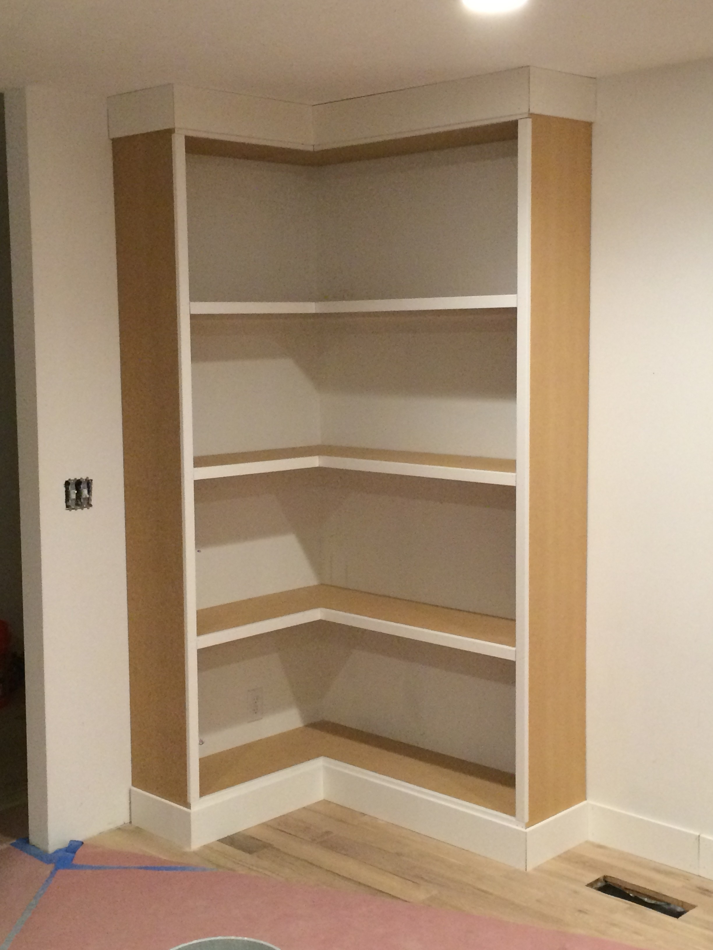 Diy Corner Bookcase (Video) – Withheart Within Most Recently Released Build Built In Bookcases (View 6 of 15)