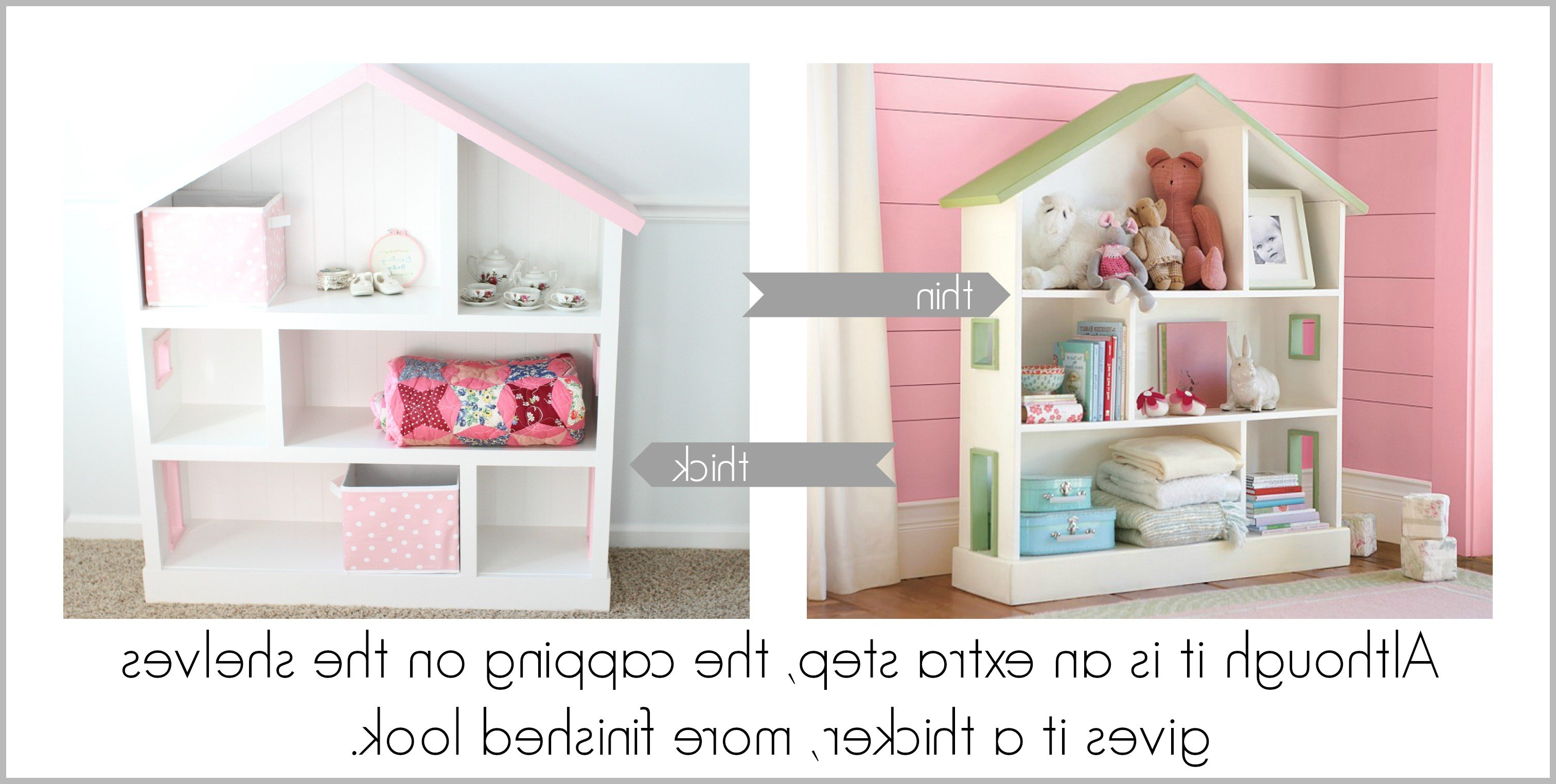 Diy Dollhouse Bookcase – I Can Teach My Child! Intended For 2018 Dollhouse Bookcases (View 6 of 15)