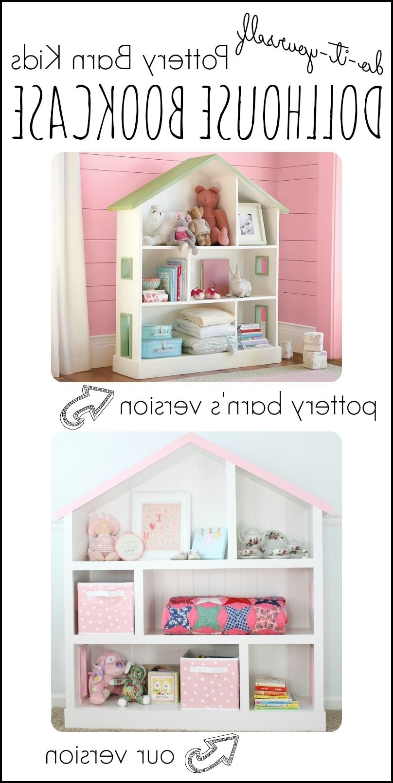 Diy Dollhouse Bookcase (View 3 of 15)